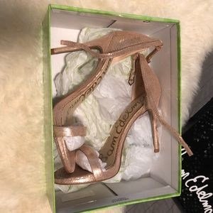 Rose Gold Sam Edelman Heels Worn Once